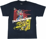 Transformers Optimus Bumblebee Youth T Shirt