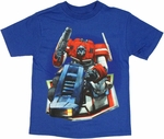 Transformers Optimus on Logo Juvenile T Shirt