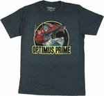 Transformers Optimus Prime Action T Shirt Sheer