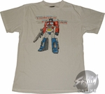 Transformers Optimus Prime White T-Shirt Sheer
