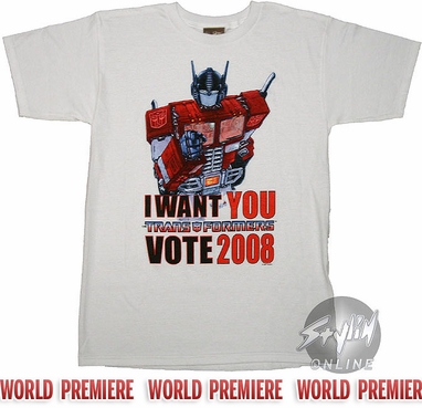 Transformers Optimus Vote T-Shirt