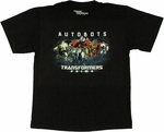 Transformers Prime Autobots Youth T Shirt