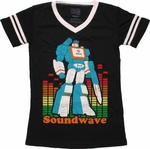 Transformers Soundwave Jersey V Neck Baby Tee