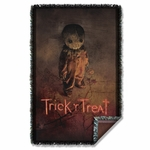 Trick r Treat Poster Throw Blanket