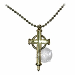Trinity Blood Gold Cross Necklace