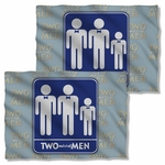 Two and a Half Men Sign FB Pillow Case