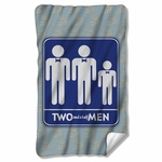 Two and a Half Men Sign Fleece Blanket