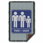 Two and a Half Men Sign Throw Blanket