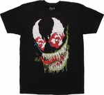 Venom Spiderman in Eyes T Shirt Sheer