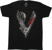 Vikings Big V Logo T Shirt Sheer
