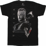 Vikings Ragnar Axe T Shirt Sheer