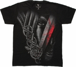 Vikings V Face T Shirt Sheer