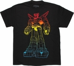Voltron Lined Color Gradient T Shirt