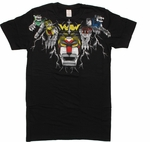Voltron Lions T-Shirt Sheer