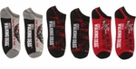 Walking Dead Aim Donor Hand Prints Mens Low Cut 3 Pair Socks Set
