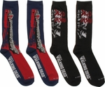 Walking Dead Arm Dead Inside Mens Crew 2 Pair Socks Set