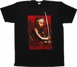 Walking Dead Bold Michonne Sword T Shirt