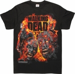 Walking Dead Burning Zombies T-Shirt