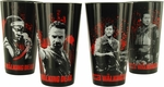 Walking Dead Characters Black Pint Glass Set