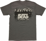 Walking Dead Comic Survival Tour T Shirt Sheer