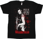 Walking Dead Daryl Pray T Shirt Sheer