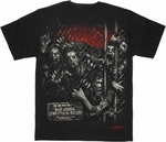 Walking Dead Fenced Walkers T Shirt