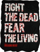 Walking Dead Fight Dead Fear Living Blanket