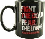 Walking Dead Fight Dead Fear Living Jumbo Mug