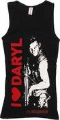 Walking Dead Heart Daryl Junior Tank Top