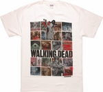Walking Dead Iconic Image Collage T-Shirt