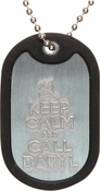 Walking Dead Keep Calm Call Daryl Dog Tag