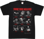 Walking Dead Know Your Walkers T Shirt
