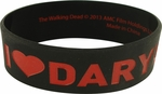 Walking Dead Love Daryl Rubber Wristband