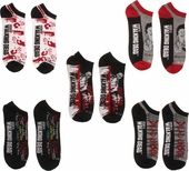 Walking Dead Mixed Mens Low Cut 5 Pair Socks Set
