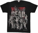 Walking Dead Reaching Hands T Shirt