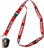 Walking Dead Red Large Zombie Charm Lanyard