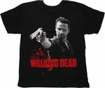 Walking Dead Rick Revolver T Shirt Sheer