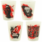 Walking Dead Streaks Frosted Shot Glass Set