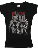 Walking Dead Walker Hands Slashed Back Baby Tee