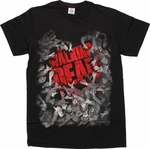 Walking Dead Walker Horde Surrounding Name T-Shirt