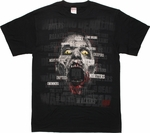 Walking Dead Walker Names Head T Shirt