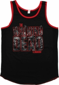 Walking Dead Walkers Logo Ringer Tank Top