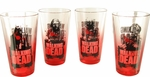 Walking Dead Zombies Red Tint Pint Glass Set