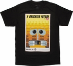 Wall E Brighter Future Poster T Shirt Sheer