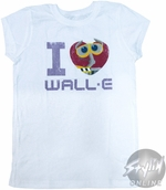 Wall E Heart Youth T-Shirt