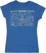 Warehouse 13 Blueprint Baby Tee