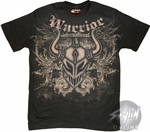 Warrior Wear Faded Mask T-Shirt Sheer