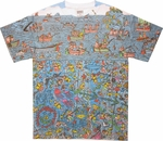 Where's Waldo Sea Divers Sublimated T Shirt Sheer