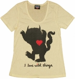 Where the Wild Things Are Love Ladies Tee