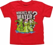 Wheres My Water Watery Group Juvenile T Shirt